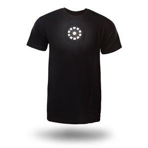 tony stark light up led iron man t shirt. Black Bedroom Furniture Sets. Home Design Ideas