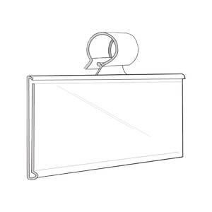 Amazoncom Clear Plastic Label Holders For Wire Shelf