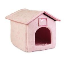 Cat Bed Just 4 Pets House Pink Stars