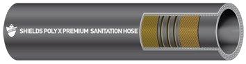Poly X Sanitation Hose – Series No. 105, 1-1/2″ ID x 1-27/32″ OD x 12-1/2′ L