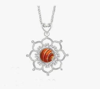 Kameleon Jewelry Lotus Flower Pendant KP4