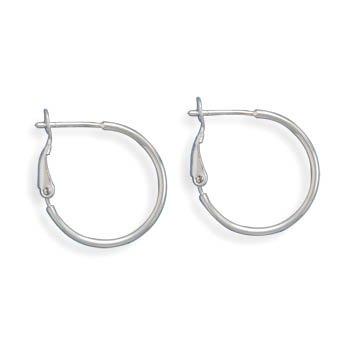 1mm Clip Post Hoop Earrings