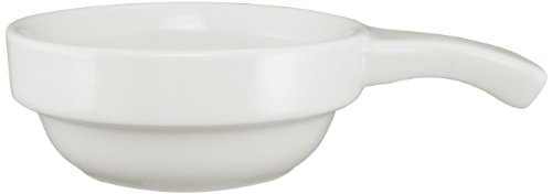 ITI-OSC-10-H Onion Soup Stackable Crock with Handle, 10-Ounce, 24-Piece, American White