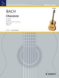 Schott Bach Js - Chaconne In D Minor Bwv 1004 - Guitar by SCHOTT