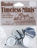 Timeless Miniatures-Blue Pots & Lids 4/Pkg - 1