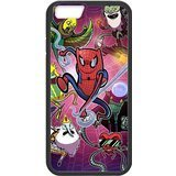 Adventure Time Spiderman Crossover Custom Phone Cases Design for iphone 6 Case with Black Laser Technology