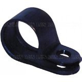 "P Clips 6.35mm (1/4"") Black Nylon Plastic Cable/Pipe Clip (20pack) Free UK Delivery"