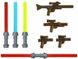 LEGO Lightsaber & Blaster Rifle Pack (4 Lightsabers) (4 Blasters) - LEGO Star Wars Minifigure Accessories (Lego Minifigure Guns compare prices)