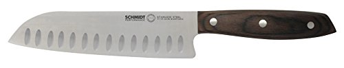 "THE SCHMIDT BROTHERS BUTCHER'S BEST Hudson Home Group Soho Open Stock 7.5"" Santoku Knife, Stainless Steel"