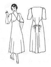 1930'S Tea Dress Pattern (Sizes Large - Xxl)