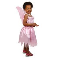 Fairy Princess Pink Dress with Pink Butterfly Wings.