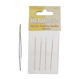 Big Eye Needles Beading (Set Of 4) - Easiest Needle To Thread
