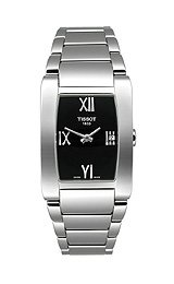 TISSOT Watch:Women's Generosi-T Black Dial Stainless Steel Images