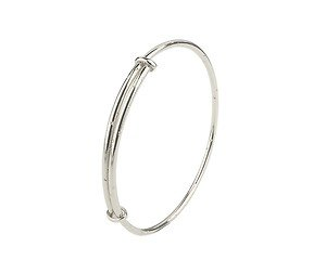 Unique Wishlist Sterling Silver Childs Expandable Bangle