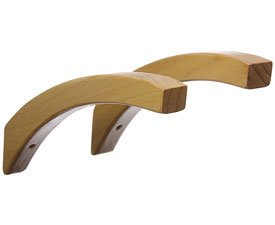12 Inch Angled Wood Shelf Brackets Honey Maple Picture