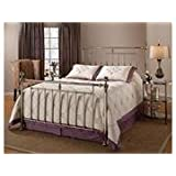 Hillsdale Furniture 1251BKR Holland Bed Set with Rails, King, Shiny Nickel