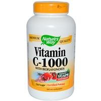 Nature's Way Vitamin C 1000 with Bioflavonoids, 250 Vcaps