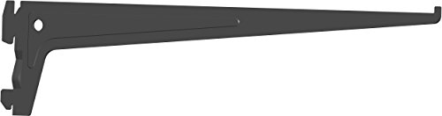 Element System PRO-Träger Regalträger 1-reihig, 2 Stück, 7 Abmessungen, 3 farben, lange 35 cm für Regalsystem, Wandschiene, schwarz, 18133-00013