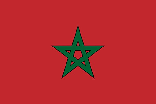 magFlags Bandiera Large Morocco solid | Morocco, with solid borders for pentagram 90x150cm