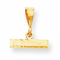 14ky Casted Medium Diamond Cut Top Charm