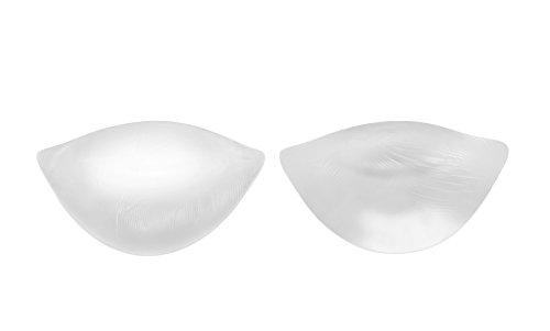 SODACODA - 190g/Paar - weiche Wohlfühl Push Up Silikon BH Einlagen - Brust Vergrößerung für BHs, Badeanzüge und Bikinis - geeignet für A, B, C und D Körbchengröße - Transparent