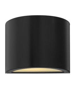"Hinkley Lighting 1666-Led 7.25"" Height Ada Compliant Dark Sky Led Outdoor Wall S, Satin Black"