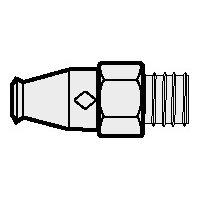 RV Single Straight Fitting, 1/4