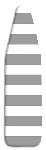 Whitmor  Scorch Resistant Ironing Board Cover with Pad, Paloma Gray Stripe