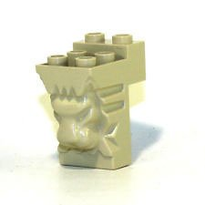 Lego Parts: Brick, Modified 2 x 3 x 3 with Cutout and Lion Head (LBGray) - 1