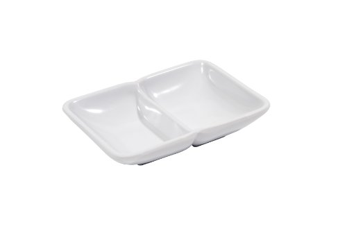 Melamine Two Compartment Sauce Dish