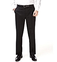 Big & Tall Machine Washable Flat Front Twill Trousers