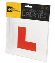 AA Self Adhesive Learner Learning Driver L Plates - Pair (Front & Rear)
