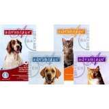 Advantage Flea Meds for Dogs 1-10lbs (Green) 6 month supply