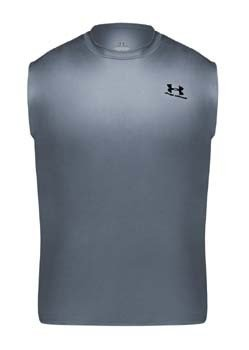 Under Armour Men's HeatGear Sleeveless Loose Tee ( sz. S, White )