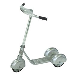 Morgan Cycle Retro Silver Scooter Riding Toy