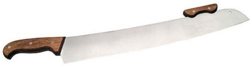 American Metalcraft PWK19 Stainless Steel Pizza Knife With Wood Handle, 18-Inch