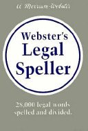 Webster's Legal Speller