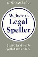 Webster's Legal Speller