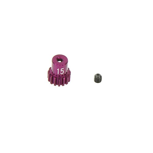 GPM Racing 15T Pinion Gear for 1:18 Associated 18B2 + Other AE Models, Purple - 1