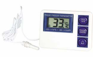 VWR FRIDGE/FREEZER THERMOMETER - VWR Digital Refrigerator/Freezer Thermometer with Alarm