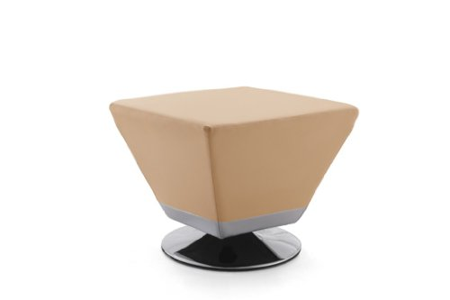 International Design Cube Leatherette Ottoman