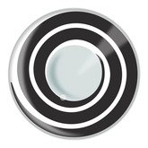Funkyeyes Black spiral swirl fashion contact lenses, case and cleaner saline solution