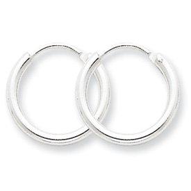 Sterling Silver 2mm Hoop Earrings - JewelryWeb