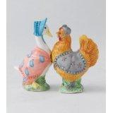 Beatrix Potter A23317 Jemima Puddleduck & Henny Penny Salt & Pepper Pots