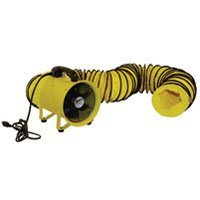 MaxxAir HVHF 12COMBO Heavy Duty 12-Inch Cylinder Fan with 20-foot Vinyl Hose, Yellow (Portable Exhaust Fan compare prices)