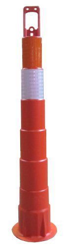 """Work Area Protection Cc42 Linear Low Density Polyethylene Channelizer Traffic Cone With Engineering Grade Reflective Sheeting, 4"""" Diameter X 42"""" Height"""