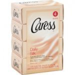 Caress Daily Beauty Bar Soap, White Peach & Silky Orange Blossom 4 Bars 2pack