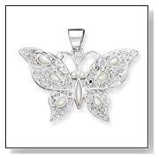 Mother of Pearl Fancy Butterfly Pendant