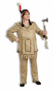 Native American Brave Adult Costume Plus Size (44-48) XLarge