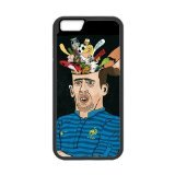 Artswow Franck Ribery Association Football Winger Cartoon Custom Plastic TPU Cell Phone Case for iPhone 6 4.7 Inch